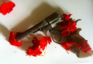 flowered gun