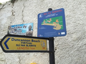 duncannon beach sign